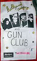 Hollywood Autopsy Poster: Warming up for Gun Club: November 30th, 1982. Merlyn's Madison, Wisconsin