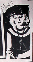 Julia (Julie Lindeman) from the band Hollywood Autopsy: November 1982